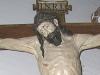 Cristo policromado y dorado, tamaño natural. Retablo.