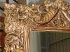 Marco tallado y dorado, con espejo (gran formato)