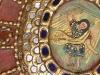 Marco policromado, dorado y espejos. Porta reliquia. Mejicano.