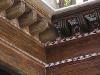 Alfarje mudejar de la antigua Casa de la Moneda, actual Consejo Consultivo de Castilla La Mancha. Toledo (Mitad de restauración) Parte sin intervenir y parte ya restaurado