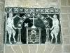 Descalichado y consolidación del mismo fragmento de esgrafiado de la Iglesia de San Blas, Toril (Cáceres)